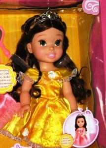 Princess Belle Doll with Heart Necklace
