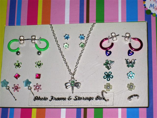 Dragonfly Necklace Plus Earrings Slant View