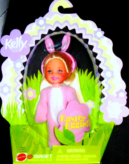 Kelly Doll Barbie Little Sister Easter Bunny Suit Egg Case