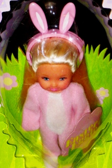 Easter Egg Kelly Bunny Suit White Doll