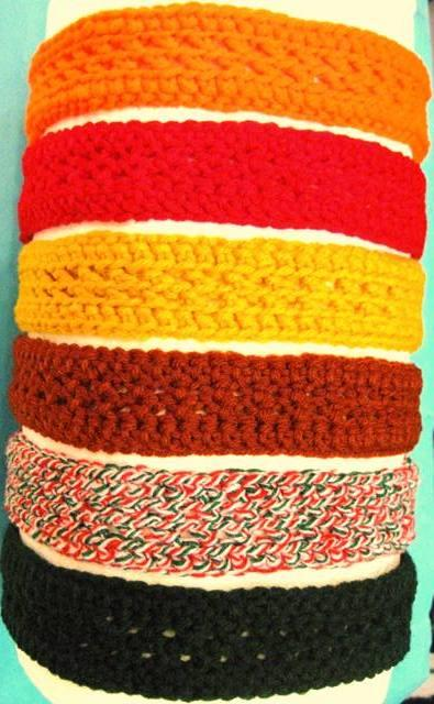 Hairbands Crocheted by Hand
