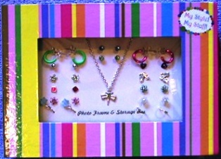 My Style My Stuff Girls Jewelry Dragonfly Necklace Plus 14 Pairs Earrings