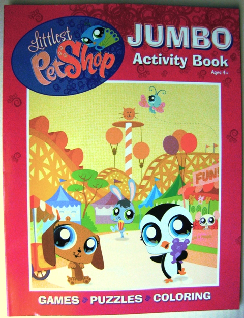 Littlest Pet Shop Activity Book with Purplish Cover