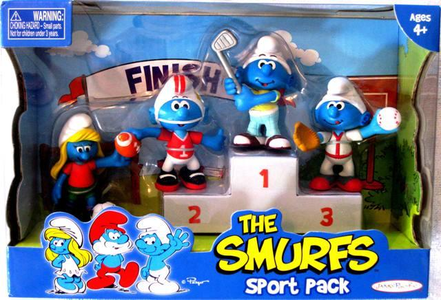 Smurfs Sport Pack 4 Characters