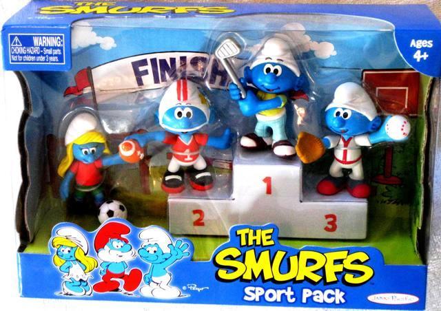 Smurfs Sports Players Soccer Football Baseball Golf