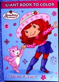 Strawberry Shortcake Giant Book to Color Wanna Dance