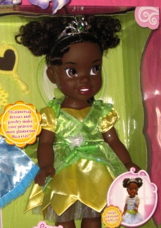 Princess Tiana Doll with Heart Necklace