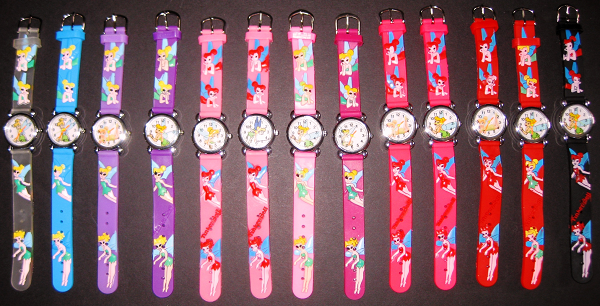 Tinkerbell Fairy Watches Varying Colors