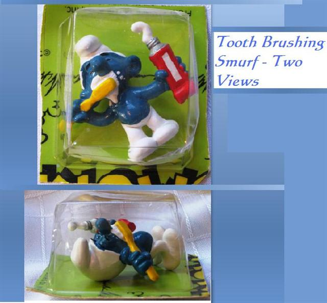 Smurf Brushing Teeth Vintage Year 1979 Collectible