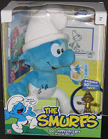 Anniversary Smurf - 50th Anniversary Plush Smurf with Trophy Figure
