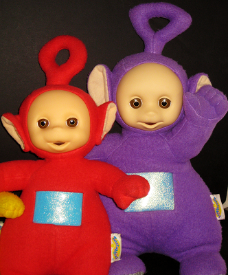 Po and Tinky Winky Talking Teletubbies