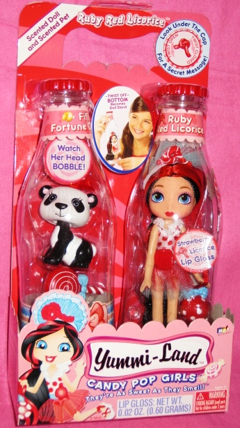 Ruby Red Licorice Doll & Fifi Fortune Cookie Pet Panda